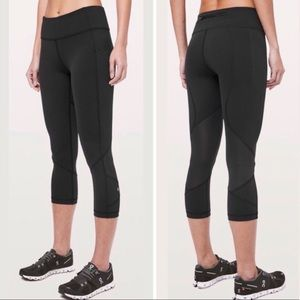 Lululemon Pace Rival Black Crop, 8